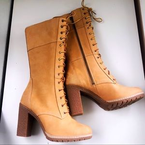 NEW Timberland Heeled Lace-up Boots